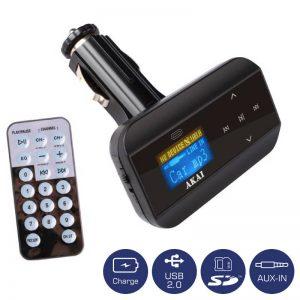 AKAI FMT-30 FM TRANSMITTER ΚΑΙ ΦΟΡΤΙΣΤΗΣ ΑΥΤΟΚΙΝΗΤΟΥ ΜΕ USB, SD ΚΑΙ AUX-IN