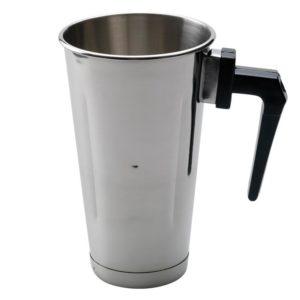 Ανοξείδωτο ποτήρι φραπιέρας με χερούλι freddo 900 ml