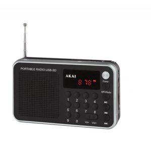 DR002A-521 Μαύρο Ράδιο USB Φορητό