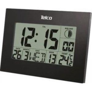 Ε0310S Ψηφιακό Ρολόι Τοίχου Μαύρο (03.038)