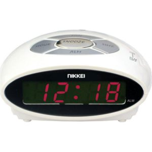 NR10WE Λευκό Ψηφιακό Ξυπνητήρι