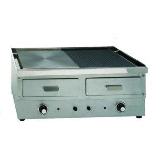 Πλατώ διπλό λείο - ραβδωτό ηλεκτρικό επαγγελματικό 230V Τ x 7