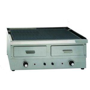 Πλατώ διπλό ραβδωτό ηλεκτρικό επαγγελματικό 230V Τ x 7