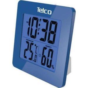 Ρολόι Θερμόμετρο/Υγρασιόμετρο Ε0114Η-1 Μπλε (03.035)