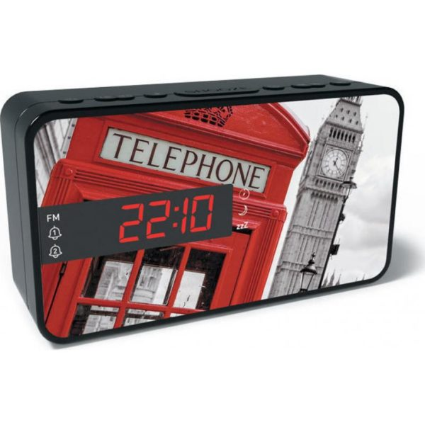 RR15 TB2 Ρολόι / Ξυπνητήρι / Ραδιόφωνο με μοτίβο