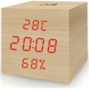WES-105 Ξύλινο ψηφιακό θερμόμετρο/υγρόμετρο