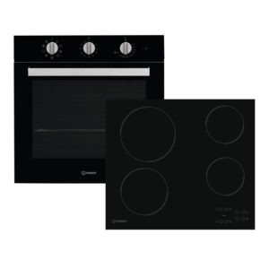 Εντοιχισμένη Κουζίνα Σετ Indesit IFW6834BL/AAR160C