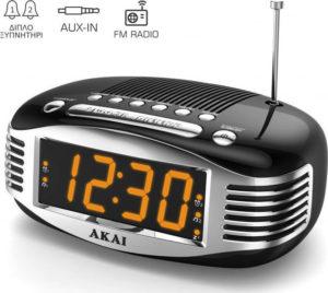 akai-ce1500-bk-ψηφιακό-ξυπνητήρι-ραδιόφωνο-euragora.gr