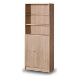 βιβλιοθήκη-δίφυλλη-με-2-ντουλάπια-δρυς