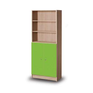 solon-βιβλιοθήκη-με-πορτάκια-5-ράφια