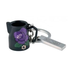 Μπρελόκ Γαλατιέρα Μαύρη με Λουλούδι Belogia krmp 4 530004