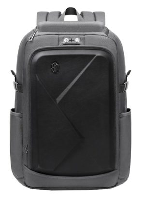 ARCTIC HUNTER τσάντα πλάτης B-00295-GY με θήκη laptop eva πρόσοψη, γκρι