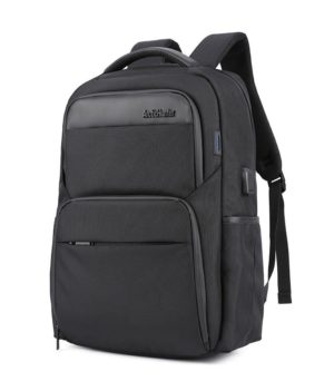 ARCTIC HUNTER τσάντα πλάτης B00113C-BK με θήκη laptop, USB, μαύρη