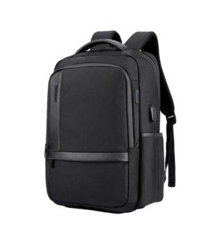 ARCTIC HUNTER τσάντα πλάτης B00120C-BK με θήκη laptop, αδιάβροχη, μαύρη