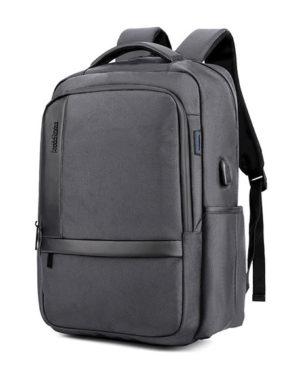 ARCTIC HUNTER τσάντα πλάτης B00120C-GY με θήκη laptop, αδιάβροχη, γκρι