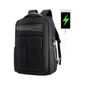 ARCTIC HUNTER τσάντα πλάτης B00121C-BK με θήκη laptop, αδιάβροχη, μαύρη