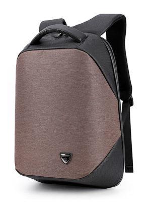 ARCTIC HUNTER τσάντα πλάτης B00193-COF με θήκη laptop, αδιάβροχη, καφέ