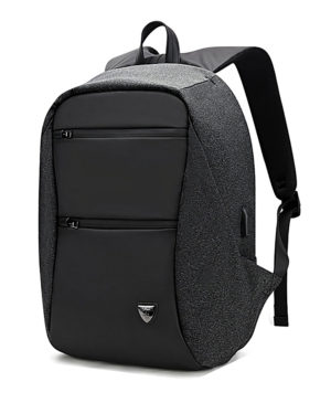 ARCTIC HUNTER τσάντα πλάτης B00207-BK με θήκη laptop, USB, μαύρη