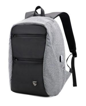 ARCTIC HUNTER τσάντα πλάτης B00207-DG με θήκη laptop, USB, γκρι