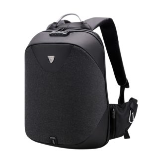 ARCTIC HUNTER τσάντα πλάτης B00208-BK με θήκη laptop, αδιάβροχη, μαύρη