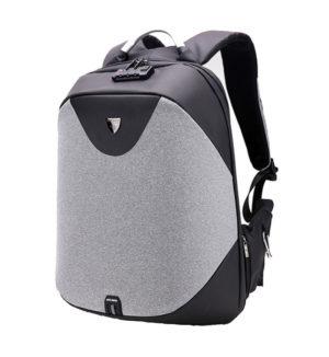 ARCTIC HUNTER τσάντα πλάτης B00208-DG με θήκη laptop, αδιάβροχη, γκρι
