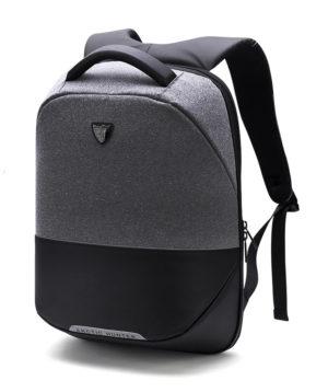 ARCTIC HUNTER τσάντα πλάτης B00216-DG με θήκη laptop αδιάβροχη, σκ. γκρι