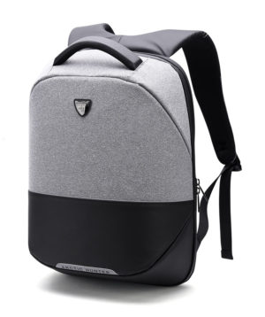 ARCTIC HUNTER τσάντα πλάτης B00216-LG με θήκη laptop αδιάβροχη, αν. γκρί
