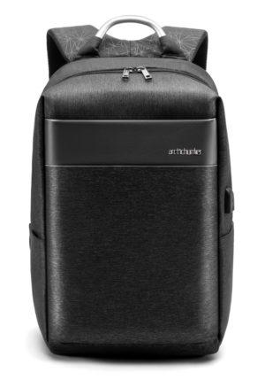 ARCTIC HUNTER τσάντα πλάτης B00218-BK με θήκη laptop, αδιάβροχη, μαύρη