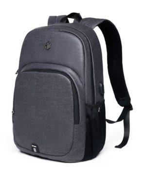 ARCTIC HUNTER τσάντα πλάτης B00249-DG με θήκη laptop αδιάβροχη, γκρι
