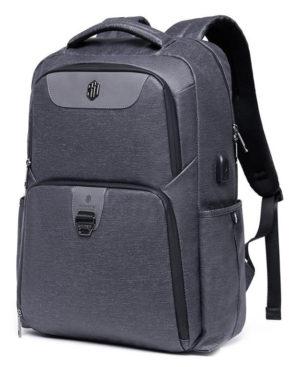 ARCTIC HUNTER τσάντα πλάτης B00266-DG με θήκη laptop, USB, γκρι