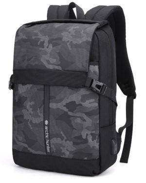 ARCTIC HUNTER τσάντα πλάτης B00352-BK με θήκη laptop, USB, μαύρη