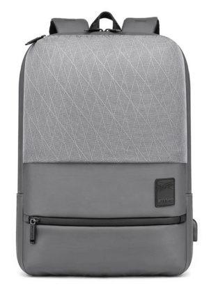 ARCTIC HUNTER τσάντα πλάτης B00360-GY με θήκη laptop, USB, γκρι