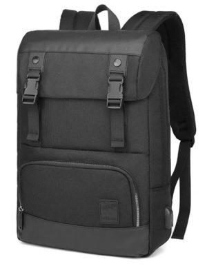 ARCTIC HUNTER τσάντα πλάτης B00361-BK με θήκη laptop, αδιάβροχη, μαύρη