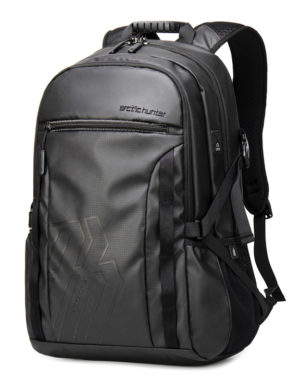 ARCTIC HUNTER τσάντα πλάτης B00381 με θήκη laptop, USB, μαύρη