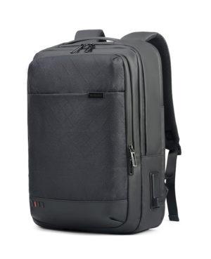 ARCTIC HUNTER τσάντα πλάτης GB00328 με θήκη laptop, USB & 3.5mm, grid