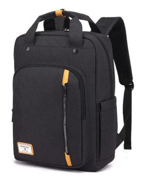 ARCTIC HUNTER τσάντα πλάτης GB00363-BK με θήκη laptop, αδιάβροχη, μαύρη