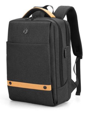 ARCTIC HUNTER τσάντα πλάτης GB00378-BK με θήκη laptop, αδιάβροχη, μαύρη