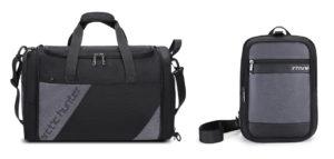 ARCTIC HUNTER Τσάντα ταξιδίου LX00010-BK, υβριδική, μαύρη-γκρι