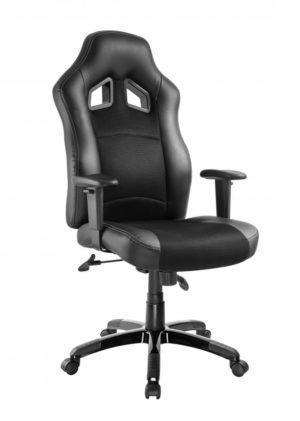 POWERTECH Καρέκλα γραφείου PT-722, ρυθμιζόμενη, με υποβραχιόνια, μαύρη