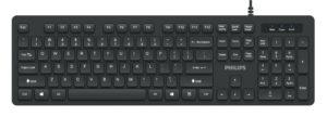 PHILIPS Ενσύρματο πληκτρολόγιο SPK6264, USB, μαύρο
