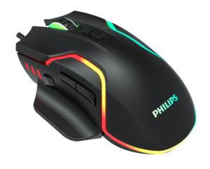 PHILIPS gaming ποντίκι SPK9525, ενσύρματο, 2400DPI, 8 πλήκτρα, μαύρο