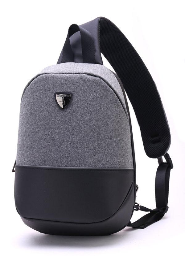 ARCTIC HUNTER τσάντα Crossbody XB00050-LG, tablet, αδιάβροχη, γκρι