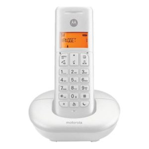 motorola-e201-dect-white-ασύρματο-τηλέφωνο