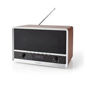 Nedis RDFM5200BN Brown/Black Επιτραπέζιο ηχείο Bluetooth
