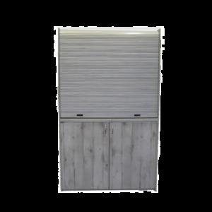Silver ΚΣ125 Πολυκουζινάκι Γκρι Πεπαλαιωμένο χωρίς Ψυγείο με Αριστερή Γούρνα 125x65x209cm