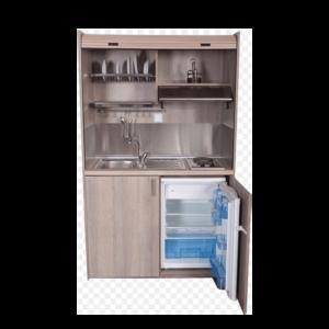 Silver ΚΣ125 Πολυκουζινάκι Μπεζ χωρίς Ψυγείο με Αριστερή Γούρνα 125x65x209cm
