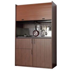Silver ΚΣ125-ΦΟΥ Πολυκουζινάκι Δρυς με Ρόζους 125x65x209cm με φουρνάκι χωρίς ψυγείο